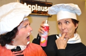 """Dolly and Izzy iiven things up in """"Kitchen Witches"""". Photo by Rick Padden."""