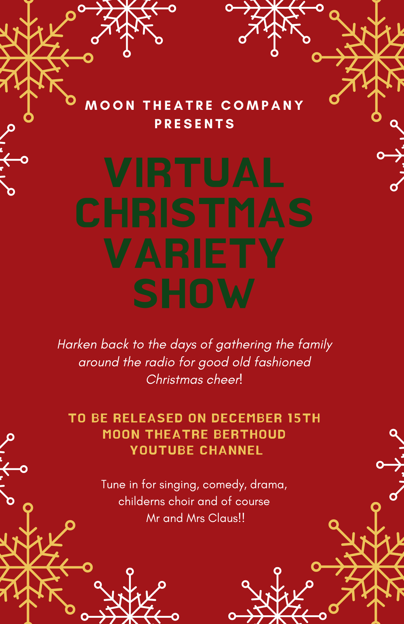 MOON THEATRE CHRISTMAS VARIETY SHOW | The Moon Theatre Company